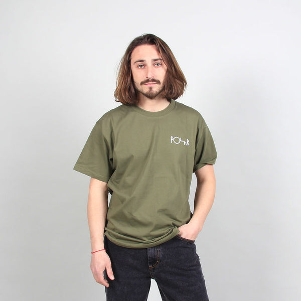 Polar Skate Co Stroke Logo Tee Uniform Green