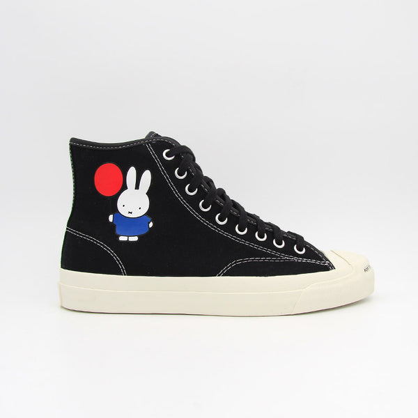 "Pop Trading Company x Converse Jack Purcell Pro Hi ""Miffy"" Black Egret"