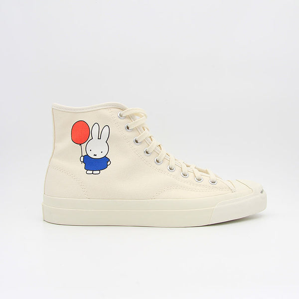 "Pop Trading Company x Converse Jack Purcell Pro Hi ""Miffy"" Egret Black"