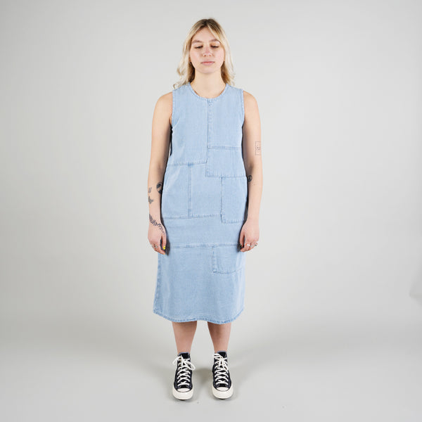 Stussy Webster Dress Light Blue