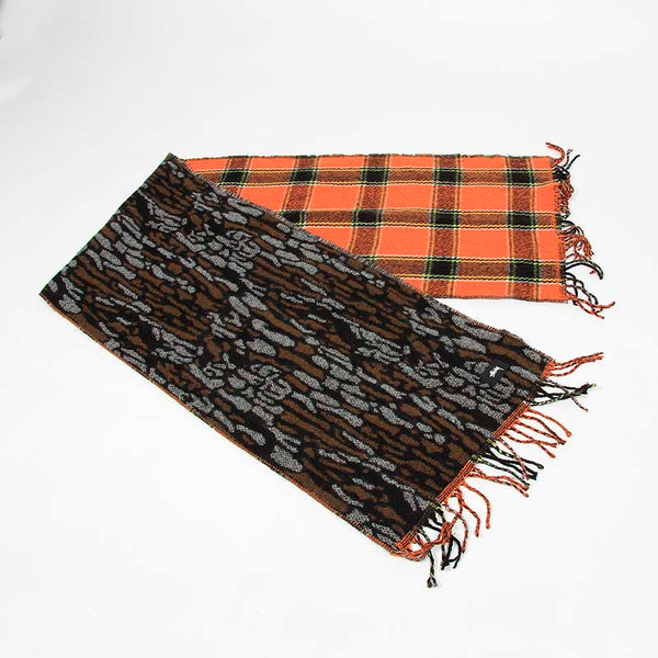 Stussy Bark Wool Scarf Brown