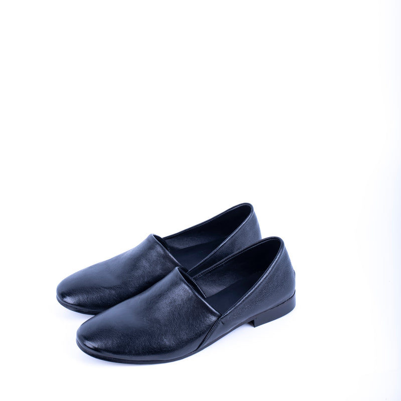 Closet CA 028 - mocassino in pelle a natur nero