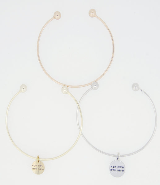 Latitude & Longitude Small Bangle