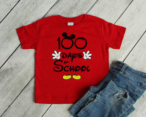 100 days  of school shirt Mickey shirt, 100 days of school shirt Disney