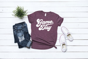 Game Day shirt, game day shirt, Texas A&M shirt, vinyl shirt, crew neck triblend tee, color options, Aggie Football game day shirt