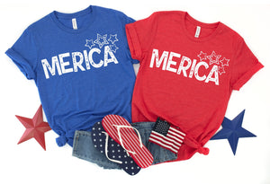 Merica Shirt, 4th of july shirt, Laides Patriotic Shirt