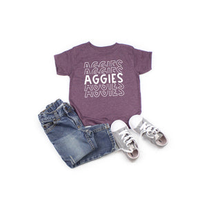 AGGIES stacked youth or toddler shirt | Texas A&M Aggies shirt
