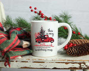 Hallmark Chirstmas Movie Watching Coffee mug, 11oz or 15 oz mug