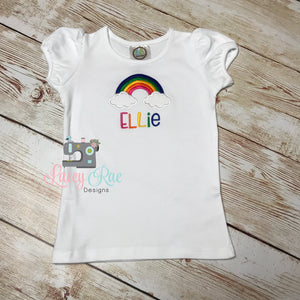 Personalized rainbow Birthday shirt, rainbiw birthday, personalized shirt, spring shirt, Girls birthday shirt