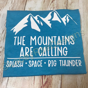 The Mountains are Calling Magic Kingdom Shirt, crew neck tee, color options, Mens tee, Disney shirt, Disney Dad Shirt , Disney Family Shirt