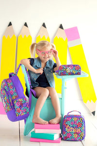 Girls Petal Punch Personalized Backpack and Lunchbox set