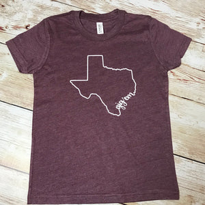 Gigem Aggies Texas toddler or youth shirt, game day shirt, Texas A&M shirt, vinyl shirt, crew neck triblend tee, color options, boy or girl