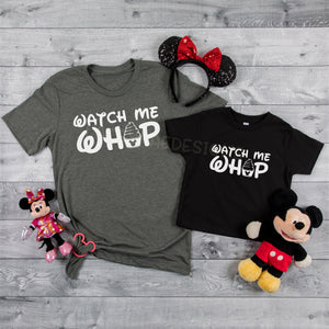 Watch me Whip youth or adult, color options, disney graphic tee, Disney Family Shirt, Dole Whip Shirt, Magic Kingdom