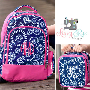 Girls Riley Personalized Backpack, Lunchbox, and pencil pouch