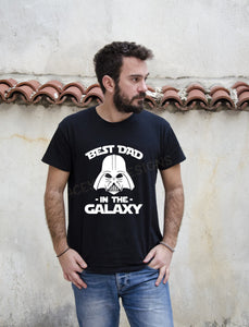Best Dad in the Galaxy, crew neck or v neck triblend tee, color options, Mens tee, Disney shirt, Star Wars Shirt, Storm Trooper Shirt