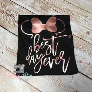 Disney Family Shirts, Best Day Ever rose gold family disney shirts, Ladies disney shirt, Disney shirt, Matching Disney Shirt, magic kingdom