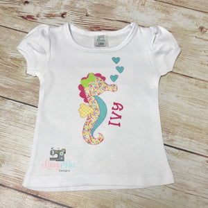 Girls Seahorse summer Shirt, Toddler Beach Shirt, Toddler Custom Girls shirt, Toddler Girls Summer shirt, Seahorse Sublimation shirt