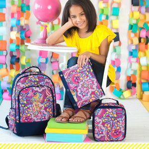 Girls Ellison Personalized Backpack lunchbox and pencil pouch