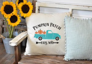 Pumpkin Patch vintage truck Pillow Cover, Fall Decor, Fall Pillow Cover, Farmhouse Decor, Fall Pillow, Pumpkin Pillow, Thanksgiving Home