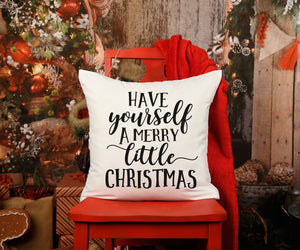 Have Yourself a Merry Little Christmas Pillow Cover, Christmas Decor, Fall Pillow Cover, Farmhouse Decor, Christmas Pillow, Christmas Home