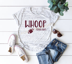 Whoop Texas Aggies shirt, game day shirt, Texas A&M shirt, Sublimation shirt, Aggie Football game day, Texas Aggies game day shirt
