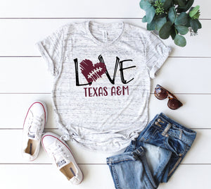 Love Texas Aggies shirt, game day shirt, Texas A&M shirt, Sublimation shirt, Aggie Football game day, Texas Aggies game day shirt