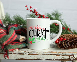 Merry Christmas Coffee mug, 11oz or 15 oz mug, Christian coffee mug, Christmas gift, Christmas coffee mug, coffee cup, Holiday
