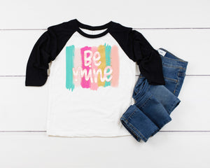 Be Mine Valentines Day shirt, Personalized Valentines Shirt, toddler or little girls valentines shirt, Girls valentines day shirt, party