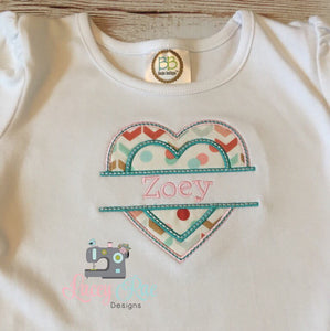 Monogrammed Valentines toddler and little girls shirt, custom personalized Valentines shirt