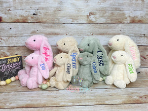 Personalized Easter Bunnies, Monogrammed Bunnies for Easter