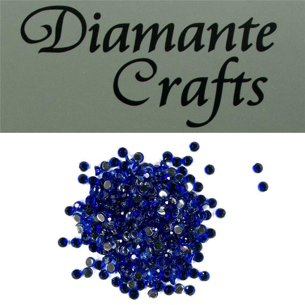 2mm x 300 Dark Blue Loose Flat Back Diamante's