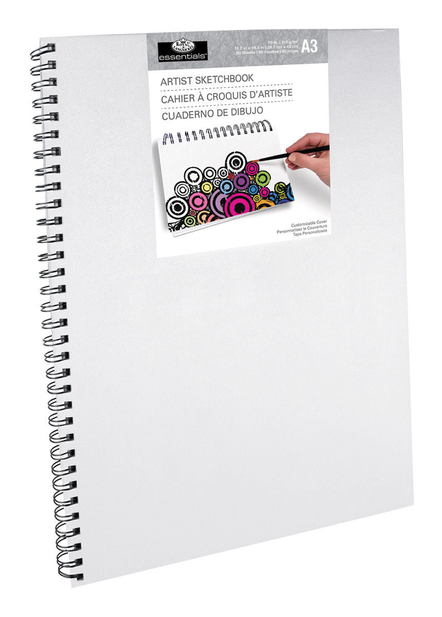 Royal & Langnickel White A3 Spiral Sketchbook