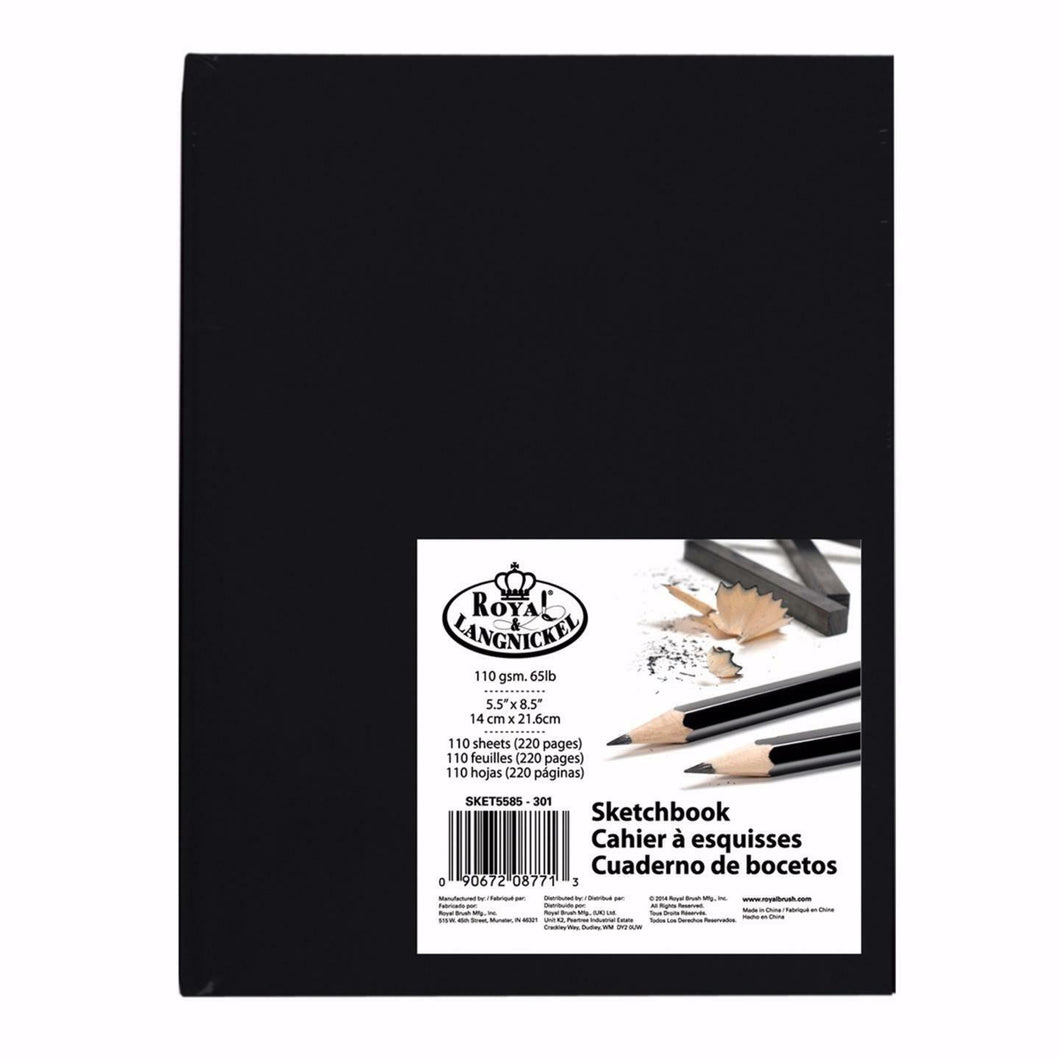 Royal & Langnickel Premium  Black Sketchbook A5 PDQ-SKETCH5