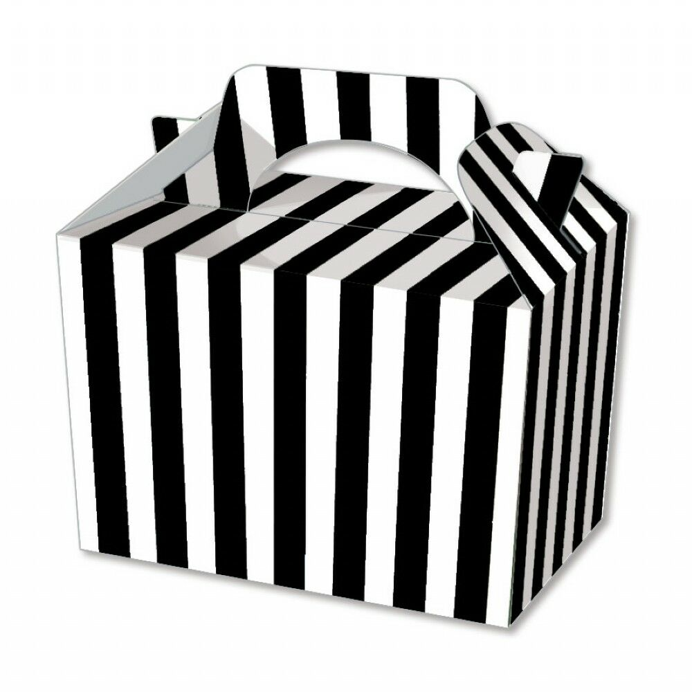 Black Stripe Party Boxes