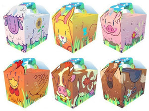 Cartoon Farm Party Boxes