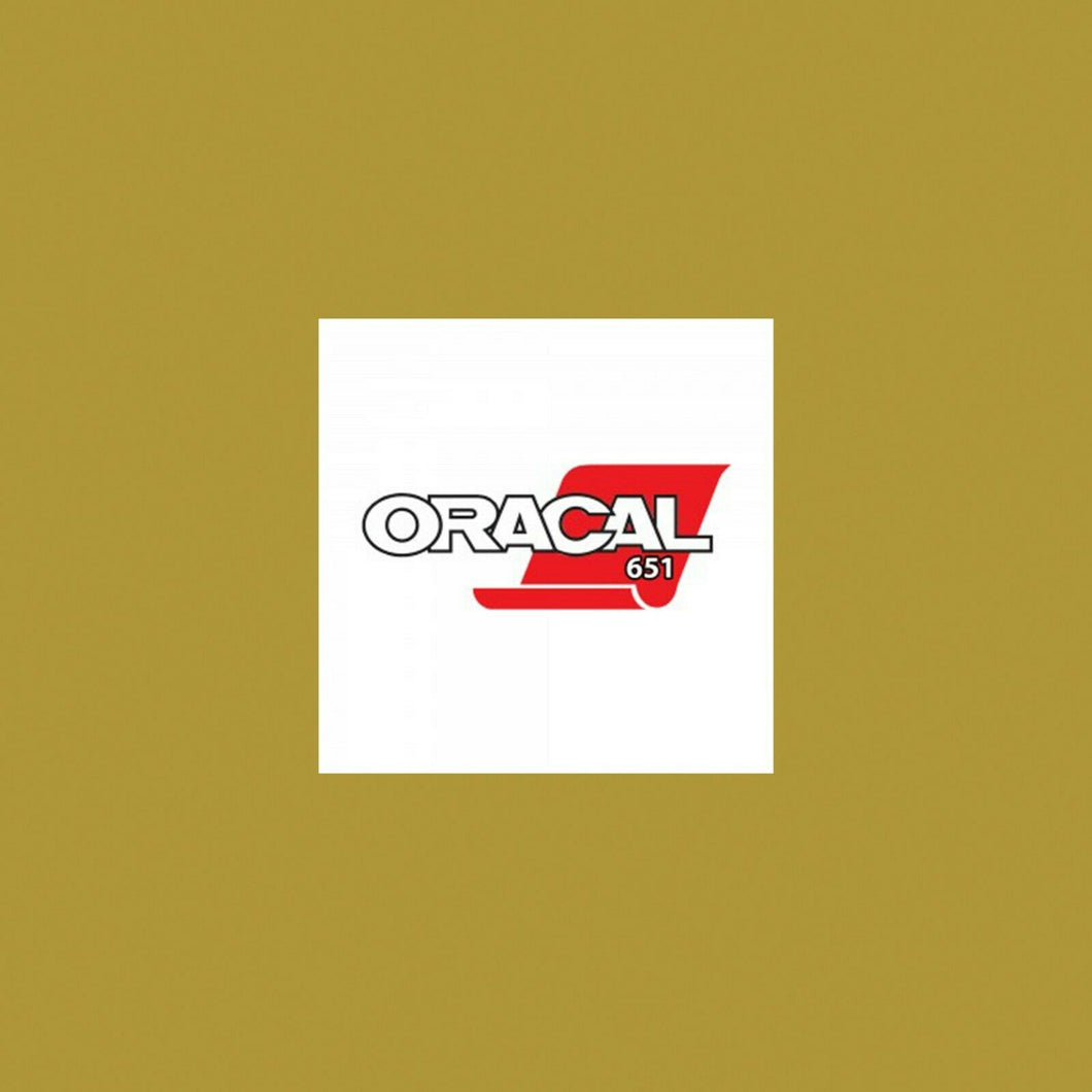 Oracal 651 Gloss A4 Sheet - Gold