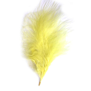 Lemon Marabou Feathers 8 - 13 cm