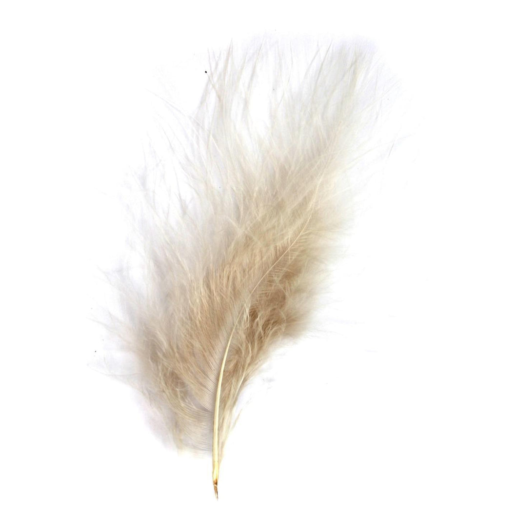 Natural Marabou Feathers 8 - 13 cm