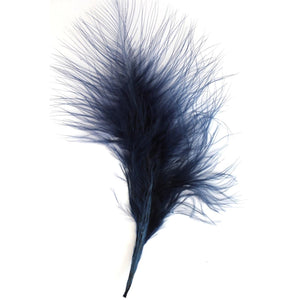 Navy blue Marabou Feathers 8 - 13 cm
