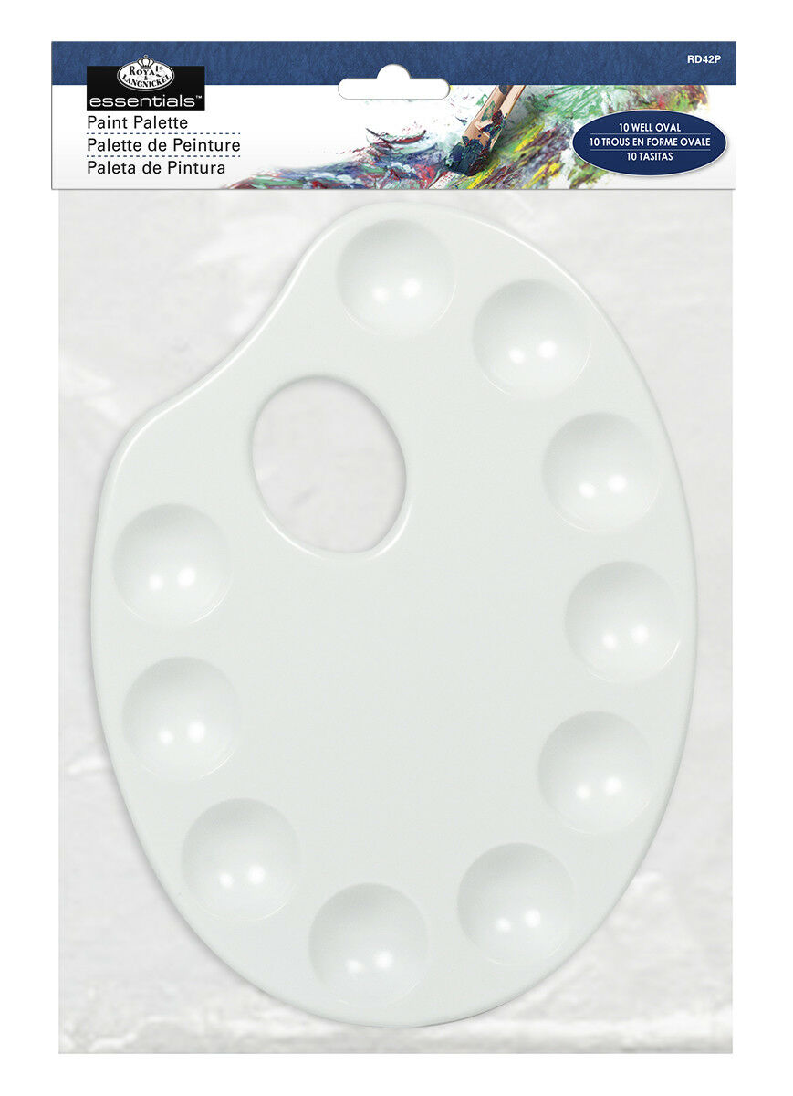 Royal & Langnickel 10 Well Oval Paint  Palette - RD42P
