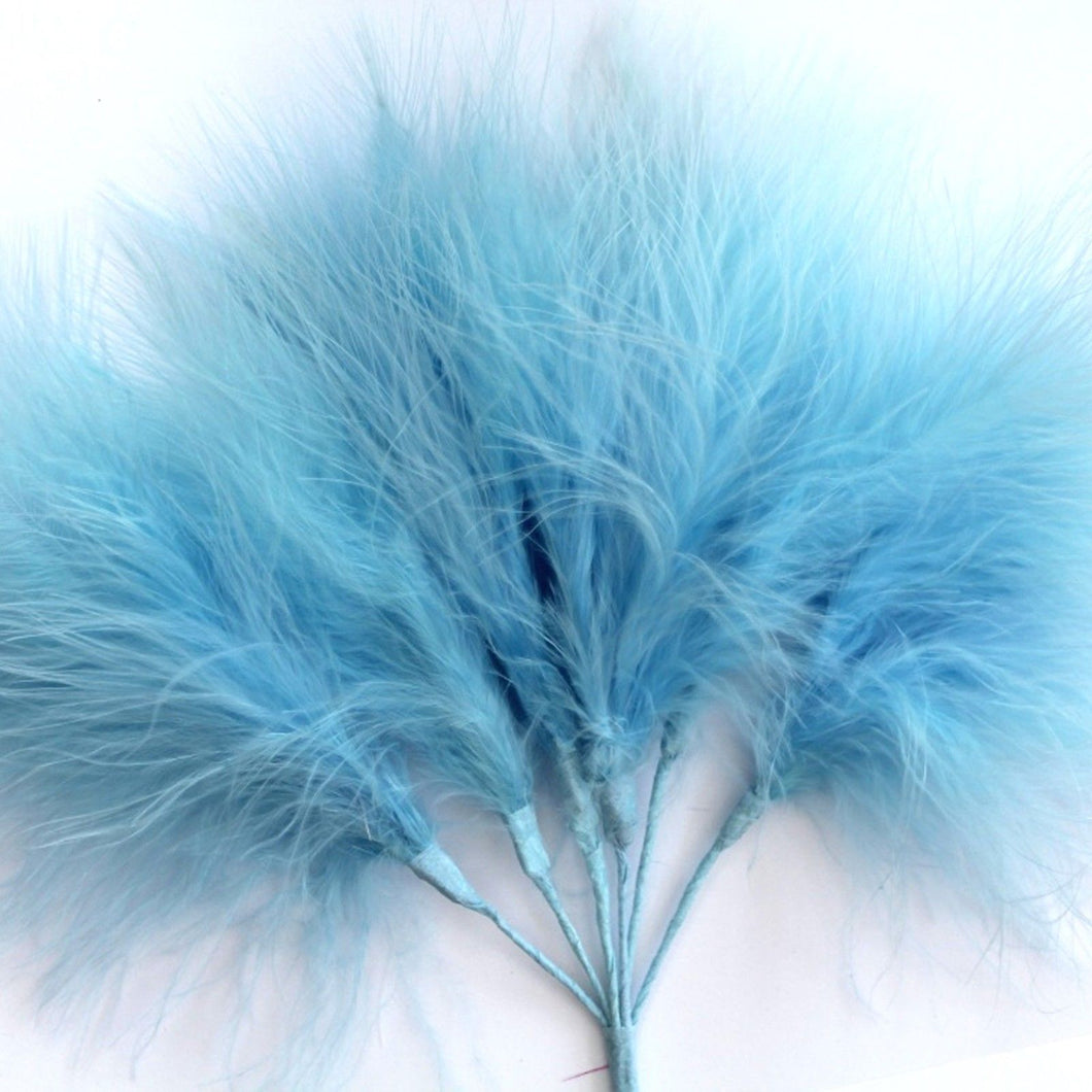 Pale Blue Marabou Fluff Feathers