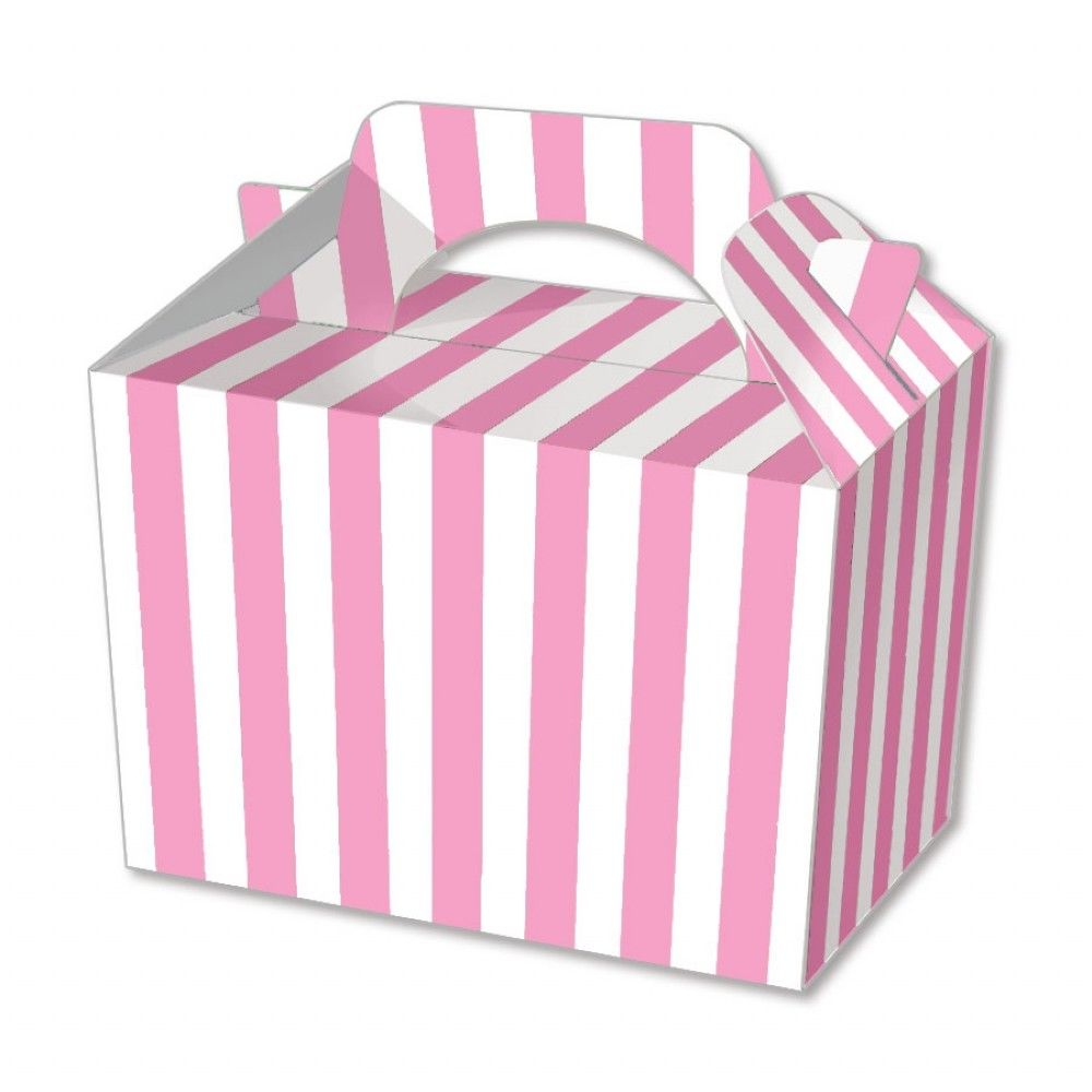 Pink Stripe Party Boxes