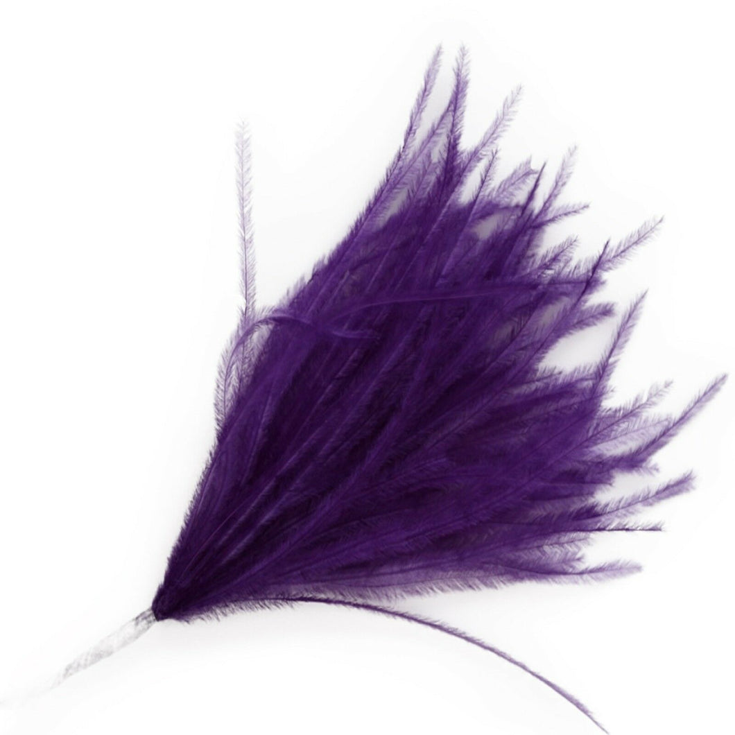 Purple Wisps Ostrich Feathers