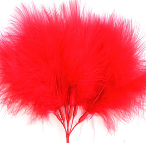 Red Marabou Fluff Feathers