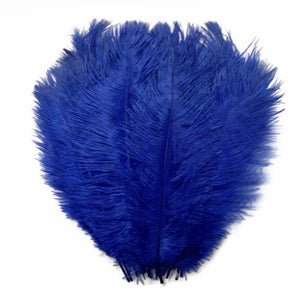 "Royal Blue Ostrich Feathers 20"" - 24"""