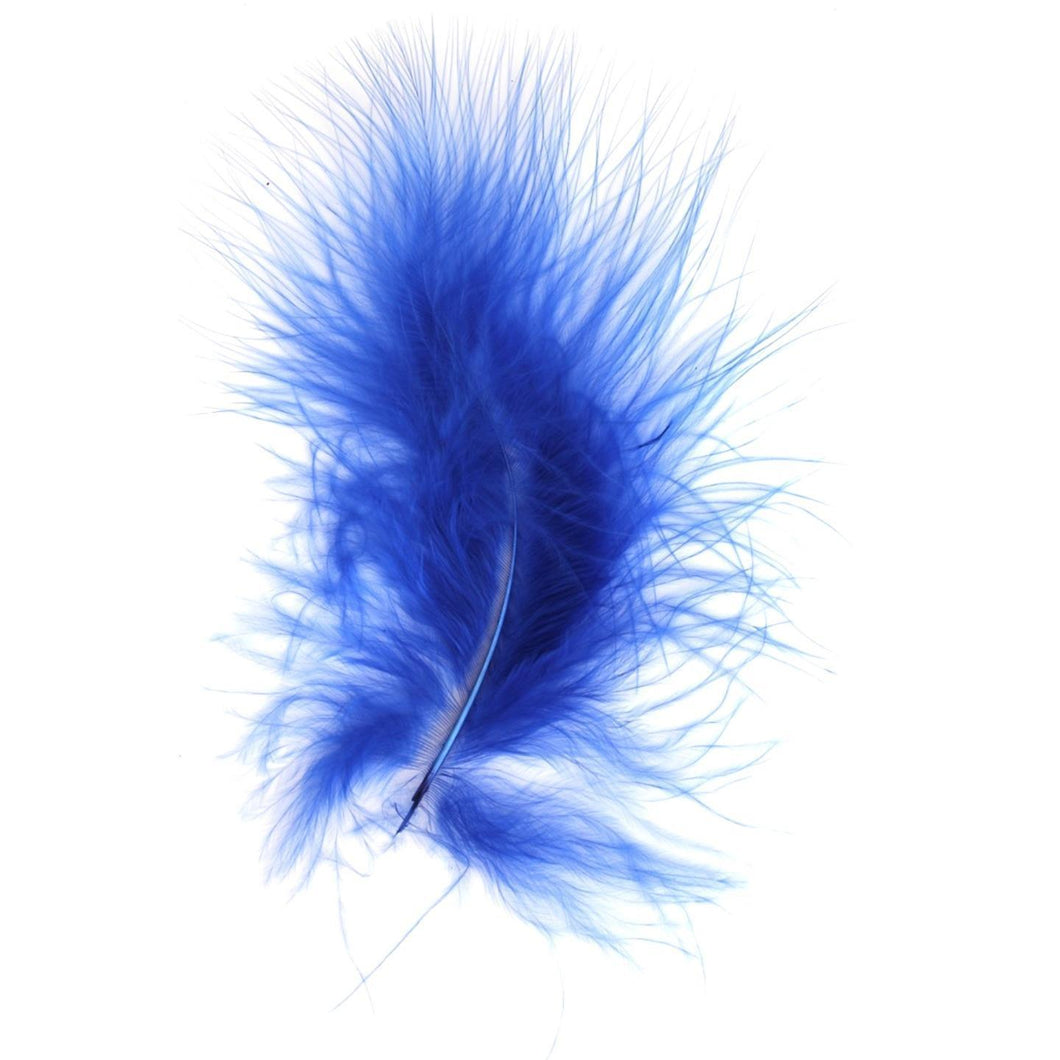 Royal Blue Marabou Feathers 8 - 13 cm