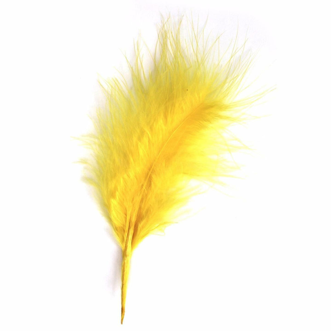 Yellow Marabou Feathers 8 - 13 cm