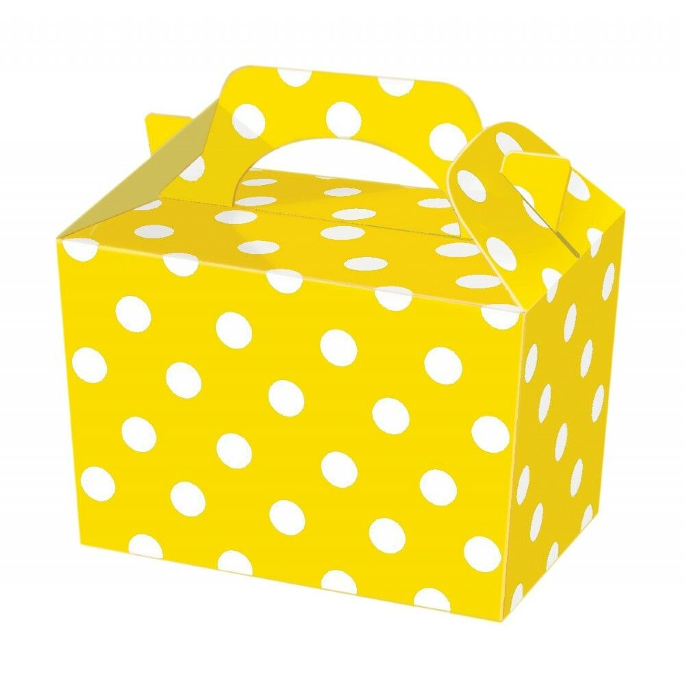 Yellow Polka Dot Party Boxes