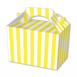 Yellow Stripe Party Boxes