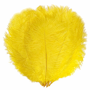 "Yellow Ostrich Feathers 20"" - 24"""